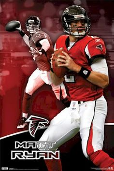 NFL - Atlanta Falcons Matt Ryan Focus Football Poster Falcons Football, Football Team, Football Helmets, Falcons Rise Up, Football Reference, Nfc South, Matt Ryan, Atlanta Falcons, National Football League