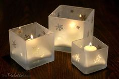 Make Your Own Etched Glass Candleholders
