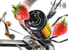필름 & 딸기(자연물)