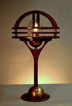 Sage Marine Table Lamp- Dieselpunk meets Art + Crafts styling.  By Art Donovan