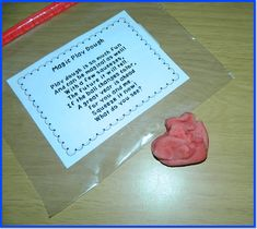 Give each student a baggie with the magic play dough and the poem on the first day of school.  There is a link here for the free poem!