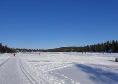 Talvijärven jäällä on mukava hiihdellä maaliskuun auringossa. Rukan Hiihtostadion, Talvijärvi, Kuusamo. Outdoor, Outdoors, Outdoor Games, The Great Outdoors
