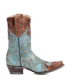 Old Gringo Women's Caroline Boot - Aqua / Brass