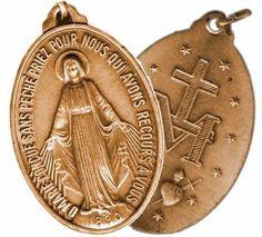 Nossa Senhora mandou Catarina cunhar uma medalha e prometeu que quem a usassem receberia dela muitas graças...  :)