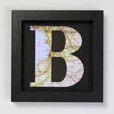 Personalised Map Letter Birthday Framed Print by Bombus, the perfect gift for Explore more unique gifts in our curated marketplace. Nursery Modern, Modern Nurseries, Girl Nurseries, Baby Christening Gifts, Map Crafts, Banner Letters, Birthday Frames, Vintage Maps, New Baby Gifts