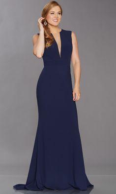 3ef0419da3 Tiffanys Illusion Blake Navy Prom Evening Dress A minimal design