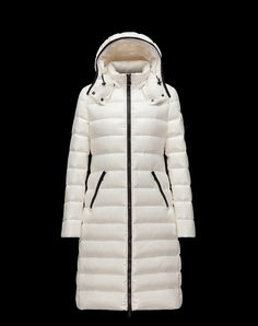 c5cdbf738939 MONCLER MOKACINE Women s Long Down Jacket Ivory Size 00   XS Winter Coats
