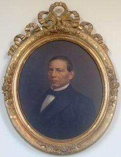 Don Benito Pablo Juárez García, retrato en el Recinto de Homenaje a Benito Juárez en Palacio Nacional, Centro Histórico de la Ciudad de México.