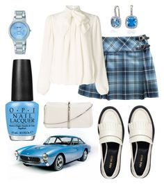 """Matching my blue Ferrari"" by dtlpinn on Polyvore featuring Ferrari, OPI, Nine West, Ryder, 3.1 Phillip Lim, Somerset by Alice Temperley and Seiko"