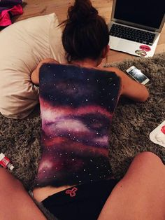 trendy galaxy body art paint - - - Galaxis - Space Everything Tattoo Women, Tattoo Girls, Hot Guys, Pin Up, Body Art Photography, Galaxy Painting, Galaxy Art, Back Art, Ballet Dancers