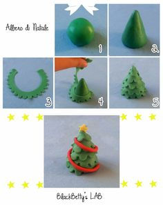 BlackBetty'sLab: Christmas Tree, could change clay into fondant