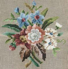 Or Pocket Book Floral Handbag Bucilla Preworked Needlepoint Canvas Purse