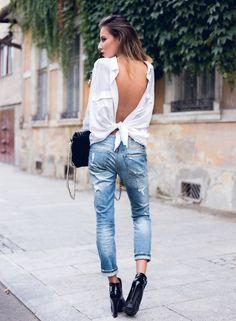 backward shirt with jeans