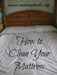 How to Clean Your Mattress Naturally from #mummydeals #clean