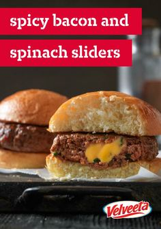 VELVEETA Spicy Bacon and Spinach Sliders – Delicious things come in ...