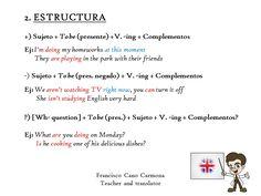 Presente Continuo (II): Estructura