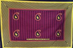 I have this kanga in three color schemes. Its design is made up of simple shapes that come together nicely. I am a big fan of paisleys Lake Tanganyika, I Am Bad, East Africa, Simple Shapes, Book Making, Different Colors, Color Schemes, Card Holder, African