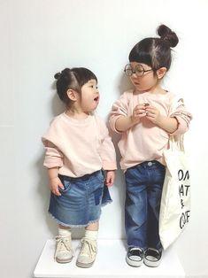 GW新作コーデ❤ 店舗で一目惚れしたトップス ピンクあんまり着せないから、新鮮✨ ふうちゃんもお