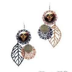 Boucles d'oreilles halloween - boucles d'oreilles gothiques el dia del muerto fait main par milacréa