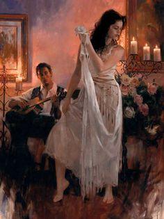 """""""Danseuse or the White Rose"""" Richard S. Johnson"""
