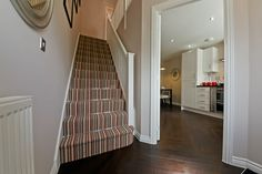 Make a statement stairs with stripes! From a showhome.
