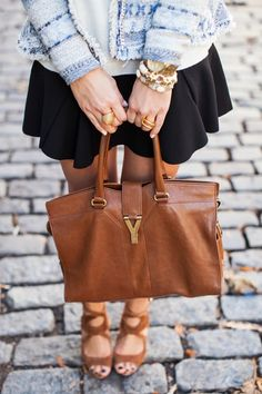 Soho Afternoons - Rebecca Taylor jacket // Parker skirt Madewell sweater // Zara heels // Jennifer Zeuner necklace // YSL bag Friday, November 29, 2013