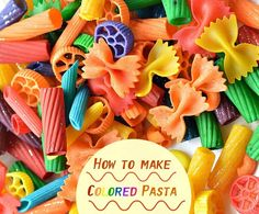 How to dye pasta for play, art projects for kids and learning activities for kids Cute Kids Crafts, Fun Arts And Crafts, Toddler Crafts, Preschool Crafts, Easy Crafts, Projects For Kids, Diy For Kids, Art Projects, Art Activities For Kids