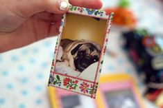 Super fun idea for sprucing up and hiding the white frames of Instax photos: add a little Washi tape along the edges.