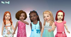 Another pack for toddlers available on my site. Include 5 toddlers hair I created for the Sims 4, you can have these without advertising. ...
