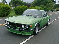 1975 BMW 3.0 CS in Taiga Green.