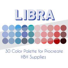 Flat Color Palette, Color Palette Challenge, Colour Pallette, Libra Color, Zodiac Signs Colors, Signo Libra, Art Prompts, Zodiac Art, Digital Art Tutorial