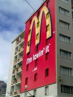 Places - Someone isn't loving McDonalds in Kloof Street #capetown