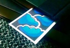 Thunderstorm Stained Glass Style Bookmark by jezunya on Etsy