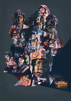 STAR WARS Poster Featuring Rogue Squadron; Commander Arhul Narra, Luke Skywalker, and Wedge Antilles, shortly after the Battle of Yavin, out of Red Squadron.