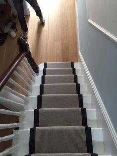 portfolio carpets grey carpet black border stairs 03