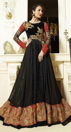 http://shreemadhufashion.com/salwar-kameez/attractive-black-velvet-net-embroidered-anarkali-salwar-kameez.html