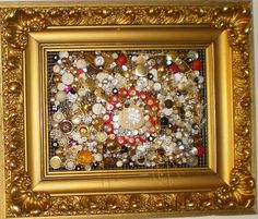 Antique Framed Buttons and Beads Art by lynnery on Etsy, $375.00