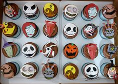 Nightmare before Christmas Cupcakes @Lindsey Unrath