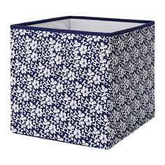 DRÖNA Box - blue/white floral patterned - IKEA