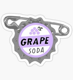 """Grape Soda Badge"" Stickers by Stickers Cool, Preppy Stickers, Cute Laptop Stickers, Bubble Stickers, Printable Stickers, Planner Stickers, Homemade Stickers, Grape Soda, Foto Art"