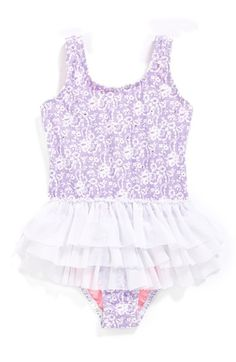 Free shipping and returns on Hula Star 'Sugar Plum' One-Piece Swimsuit (Toddler Girls & Little Girls) at Nordstrom.com. A delightful swimsuit is reminiscent of her favorite dance outfit with its voluminous tutu skirt and lacy details.