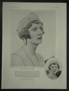 Countess Howe Lorna Katherine Curzon Art Deco Headdress 1929 Photo Article 6899 | eBay