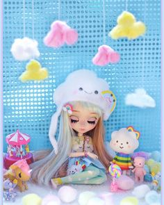 ☁My mind is always on the clouds ☁ #instadoll #pullip #pullips #dollinsta #doll #cloud #clouds #poisongirldolls #poisongirl #missrainbow #fluffyhouse #cottoncandy #scenary #diorama #cute #sky #sweet #eyelids #rainbow #colorful #pastelcolora #fairykei #kawaii #nube #daydream #toyphotography #toystagram #toy #dollphoto #dollphotogalery
