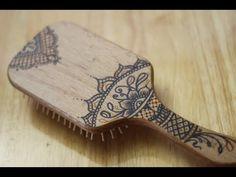 DIY: Henna.Mehndi Hairbrush