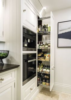 Classic white kitchen with pull out larder