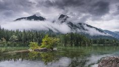 "After the rain - Lake ""Hintersee"" in Berchtesgaden / Bavaria"