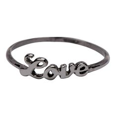 Icepinkim Black Brass Love Ring and other apparel, accessories and trends. Browse and shop related looks.