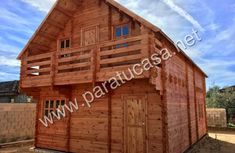 paratucasa Cabin, House Styles, Wood, Building, Home Decor, Style At Home, Log Homes, Decoration Home, Woodwind Instrument