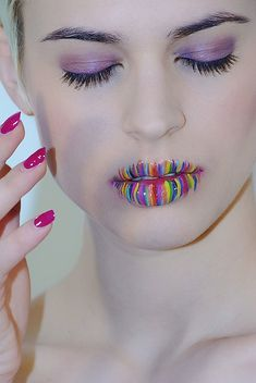 Colorful lips! It's cool just not an every day wear.