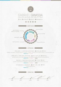 My Resume by Gabriel Ghnassia, via Behance